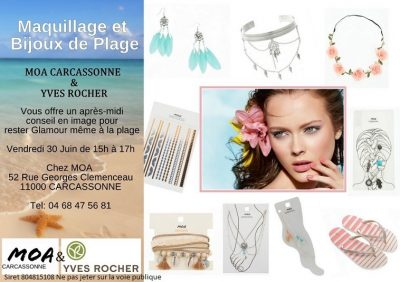 Afternoon of image advice - Make-up and Beach Jewelery - Friday 30 June from 3 pm